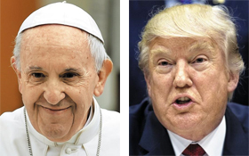 프란체스코 교황, 트럼프 사진