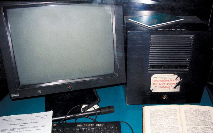 인터넷 대중화에 기여한 팀 버너스리 MIT 교수가 처음 웹사이트를 구축하는 데 사용한 컴퓨터 서버이다