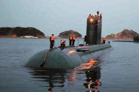 북한이 잠수함발사탄도미사일(SLBM) 발사용으로 사용하는 고래급 잠수함의 모습.