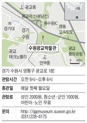 수원광교박물관 위치 지도