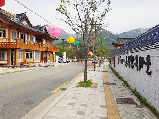 서울 은평뉴타운 단독주택지 인근에 조성된 한옥마을. /김수현 기자