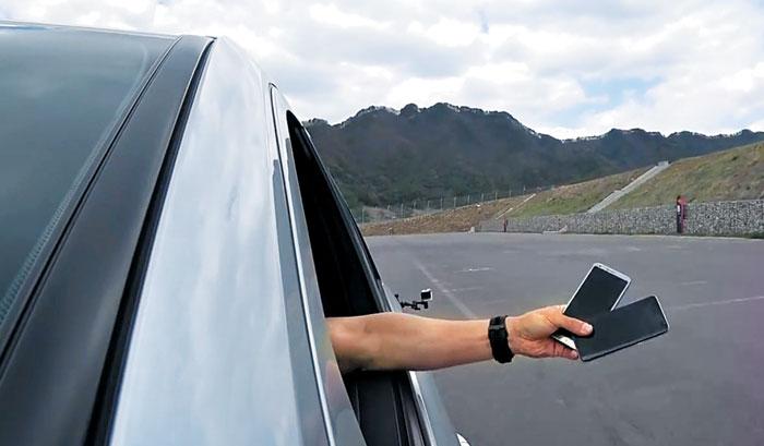자동차 전문 매체 '오토기어' 실험 영상 캡쳐
