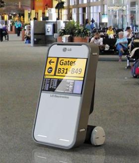 인천공항이 도입할 안내 로봇 이르면 올 연말부터 인천공항에 등장할 안내 로봇.