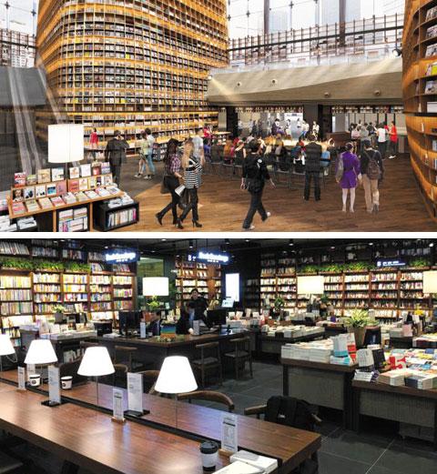 오는 31일 서울 강남구 삼성동 스타필드코엑스몰에 문을 열 대형 도서관'오픈 라이브러리(가칭)'조감도.