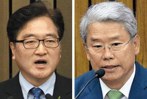 우원식 의원(왼쪽), 김동철 의원.