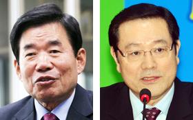 김진표 국정자문委위원장, 이용섭 일자리委부위원장.