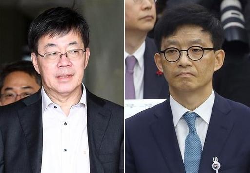 이영렬 서울중앙지검장(왼쪽)과 안태근 법무부 검찰국장/연합뉴스 제공