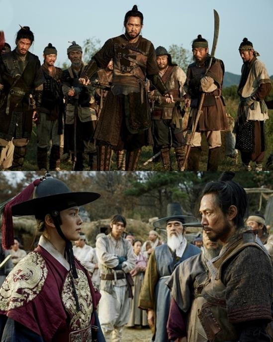 영화 '대립군'의 한 장면. 가장 미천한 용병과 가장 높은 지위의 왕세자가 동행하며 '왕의 탄생'을 만들어가는 과정이 흥미롭다.