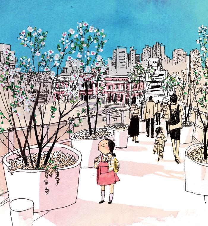[김민철의 꽃이야기] '서울로'에서 만난 함박꽃나무