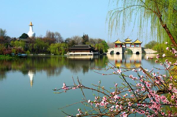 양저우 수서호는 강소성 대표 관광지다.