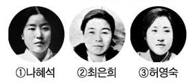 나혜석, 최은희, 허영숙 사진