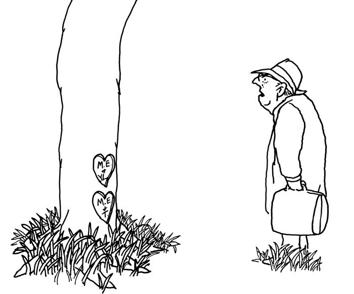 """미국 아동문학가 쉘 실버스타인의 '아낌없이 주는 나무'. 왕 교수는 """"우리가 알지 못하고 때론 애써 눈 감아버리는 타인의 고통과 트라우마에 관한 이야기""""라고 했다."""
