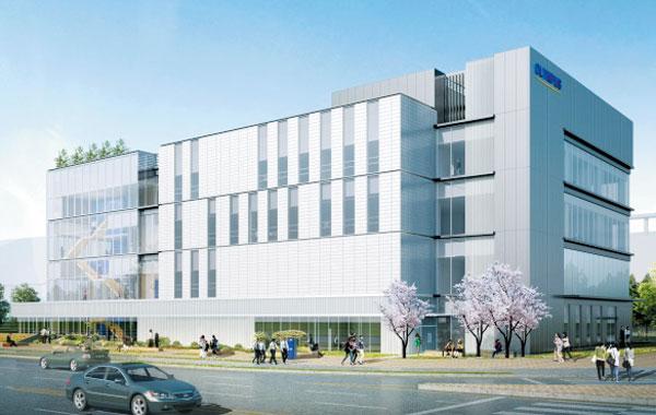 올림푸스가 인천 송도에 짓고 있는 의료진 트레이닝 센터 케이텍(K-TEC)의 조감도.
