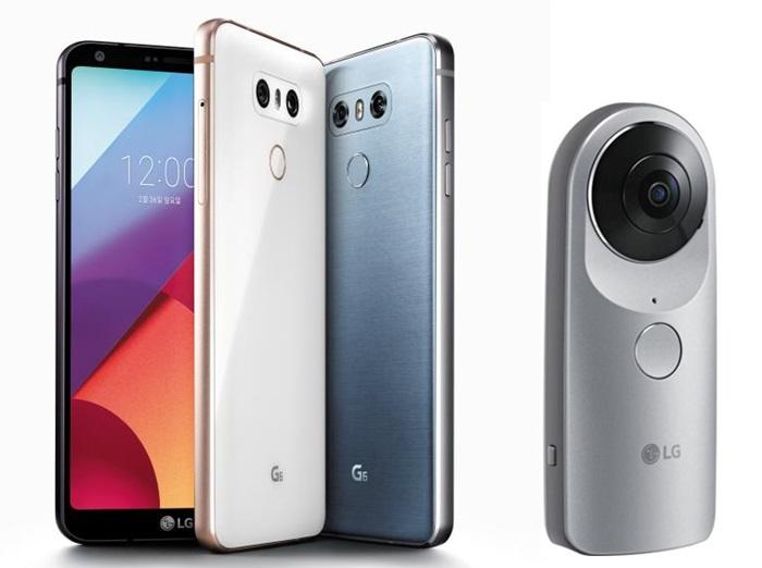 LG 'G6'(왼쪽)와 '360캠'(오른쪽).