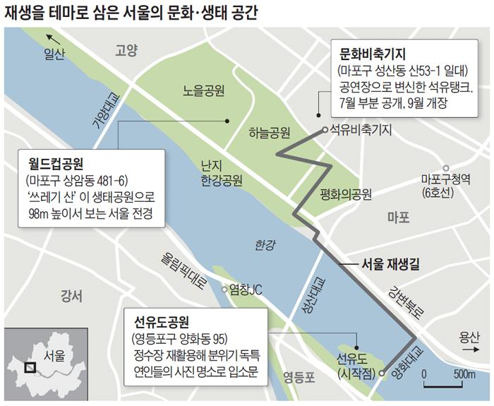 재생을 테마로 삼은 서울의 문화, 생태 공간 지도