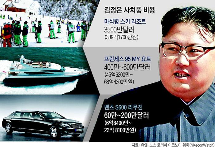 사치품에만 7375억… 김정은의 돼지저금통