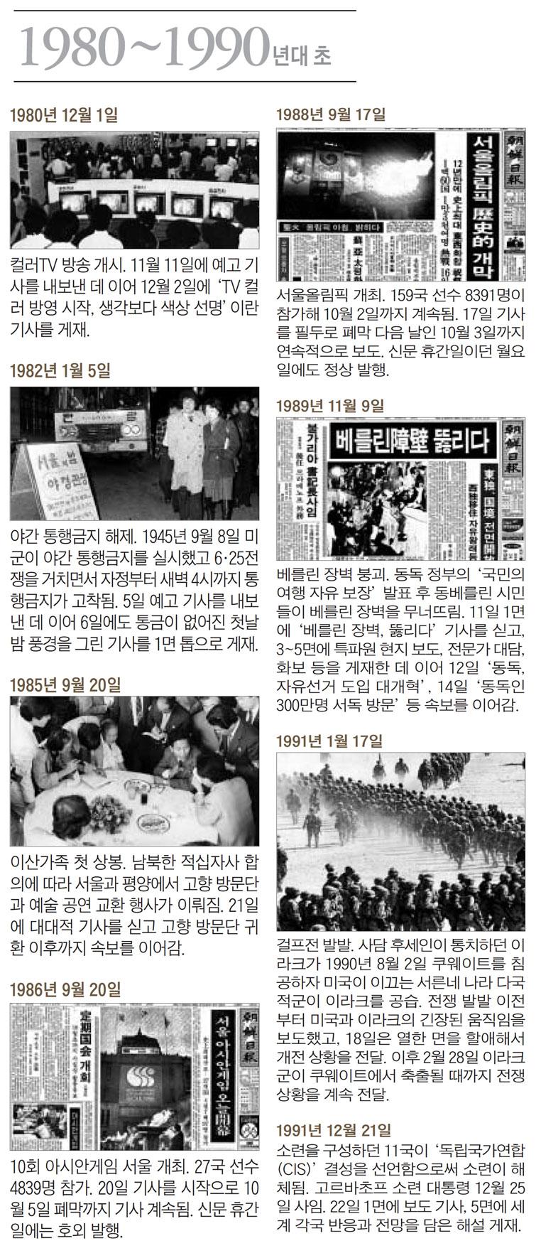 1980~1990년대 초 조선일보