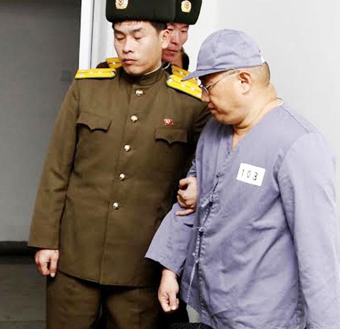 북한 억류 당시의 케네스 배