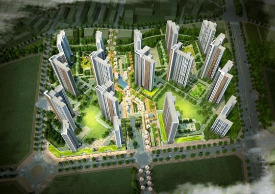 GS건설이 프리콘 방식으로 짓는 경기도 시흥 은계 S-4블록 공공주택 조감도. /GS건설 제공