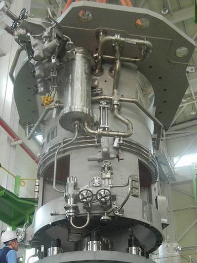 두산중공업과 한국원자력연구원 등이 5년여에 걸쳐 개발한 원자로 냉각재 펌프. 1초당 10톤 가까운 냉각재를 순환시키며 원자로를 식히는 역할을 한다. 3대 원전 핵심기술 중 하나로 꼽힌다./두산중공업 제공