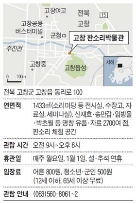 전북 고창 판소리박물관 지도