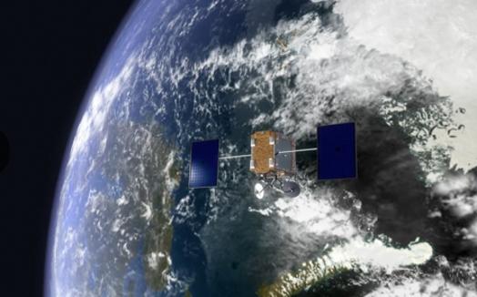 지구 저궤도에 발사된 원 웹의 위성 예상도. / 원 웹 홈페이지 캡처