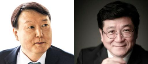 윤석열(왼쪽)서울중앙지검장, 이찬희 서울지방변호사회 회장/조선DB