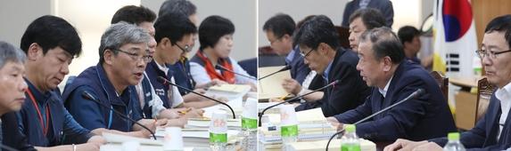 정부세종청사 고용노동부에서 열린 최저임금위원회 제5차 전원회의에서 관련 위원들이 협의하고 있다. /연합뉴스 제공