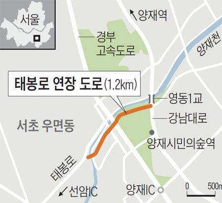 태봉로 연장 도로