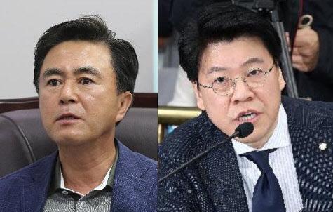 """""""야, 임마!"""" 한국당 비공개 회의서 김태흠·장제원 고성에다 욕설 격돌"""