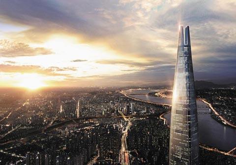 국내 최고층 건물인 롯데월드타워 42~71층에 위치한 주거 공간'시그니엘 레지던스'.