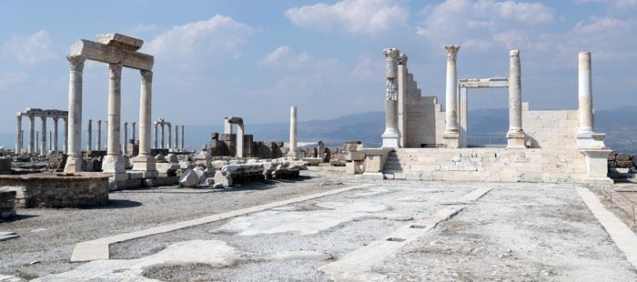 한국·터키 수교 60주년 '아나톨리아 오디세이' 탐방단이 방문한 터키 데니즐리의 라오디게아 유적. 헬레니즘 시대의 도시로 요한계시록의 7교회 중 하나가 있던 곳이다.