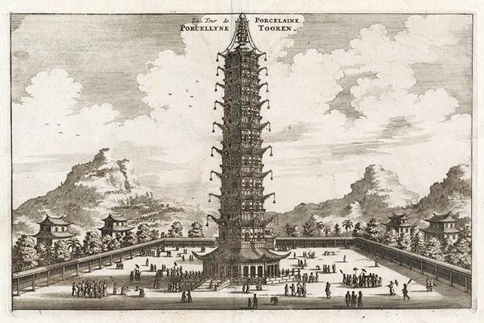 대보은사 유리보탑은 1412년 이후 약 400년간 중국에서 가장 높은 탑이었다.