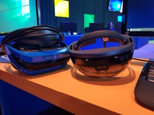 마이크로소프트는 점차 확대되는 비전 컴퓨팅 시장 공략을 위해 홀로렌즈 외에도 보급형 VR기기를 저렴하게 내놨다. /시애틀=김범수 기자
