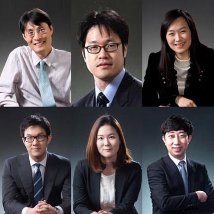 위쪽 좌측부터 윤성운٠강일٠김보연 변호사, 아래쪽 좌측부터 박성진٠상지영٠정재용 변호사./법무법인 태평양 홈페이지 캡쳐