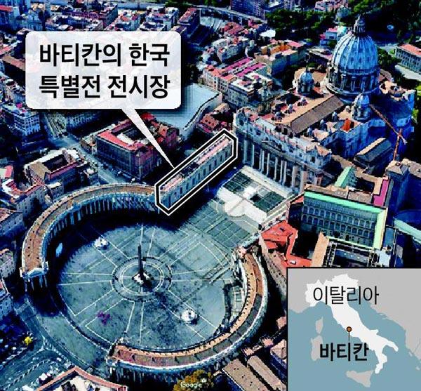 바티칸의 한국 특별전 전시장