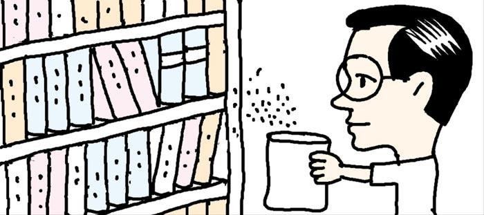 [리빙포인트] 오래된 책 곰팡내 없애려면