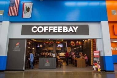 미국 월마트 내 커피베이 1호점 전경. /커피베이 제공