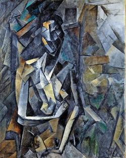 파블로 피카소의 '앉아 있는 누드', 1909~1910년, 73×54.3㎝, 캔버스에 유채.