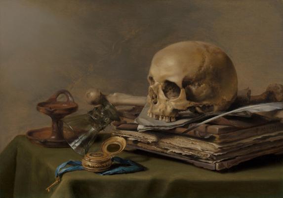 피터 클라스 '바니타스 정물화',1630/사진=마우리초이스 미술관