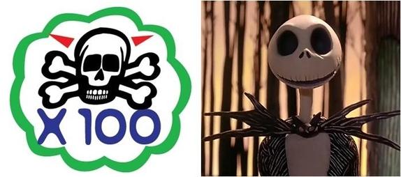 예능 프로그램 '무한도전'의 해골(왼쪽)과 영화 '크리스마스 악몽' 속 해골 캐릭터