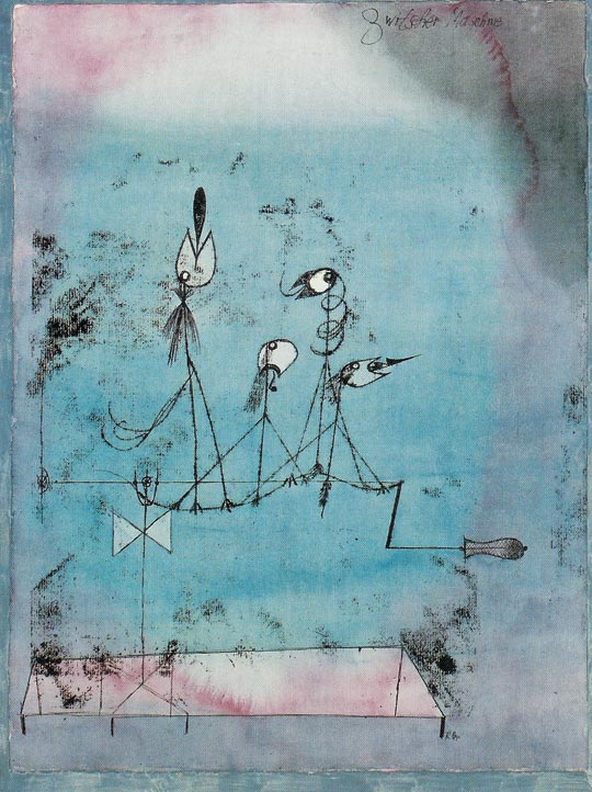 파울 클레, 트위터링 머신, 1922년, 종이에 수채물감과 잉크, 63.8㎝×48.1㎝, 뉴욕 근대미술관 소장.