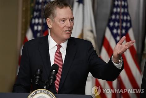 로버트 라이트하이저 미국 무역대표부 대표는 대중국 강경파로 분류된다. /연합뉴스