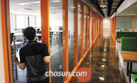 지난 11일 서울 마포구 공덕동에 있는 서울창업허브 사무실이 텅 비어 있다.