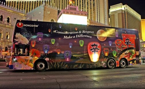 미국 라스베이거스의 신라면 버스 광고 /농심 제공