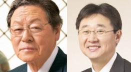 신춘호 농심 회장(왼쪽), 신동원 농심 부회장 /조선DB