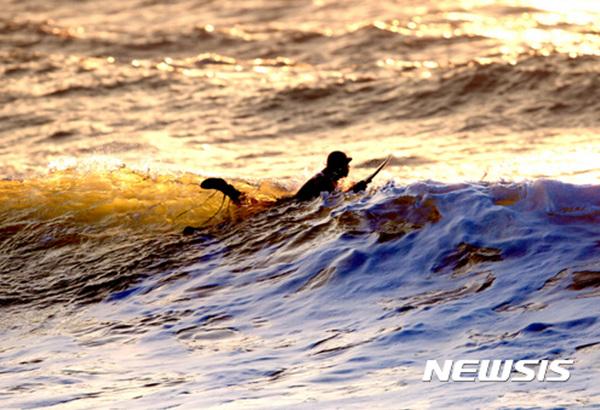 태안 만리포, '서핑 천국'으로 급부상