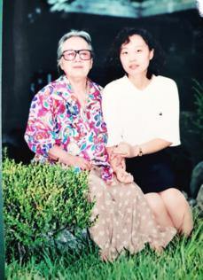 박경리 선생과 손정미 작가. 1994년 원주에서.