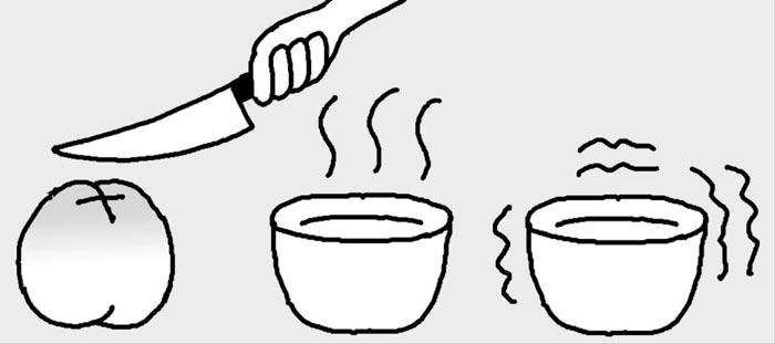 [리빙포인트] 털복숭아 껍질 쉽게 벗기려면