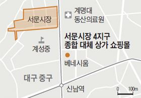 서문시장 4지구 종합 대체 상가 쇼핑몰 지도